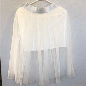 F21 white tutu skirt
